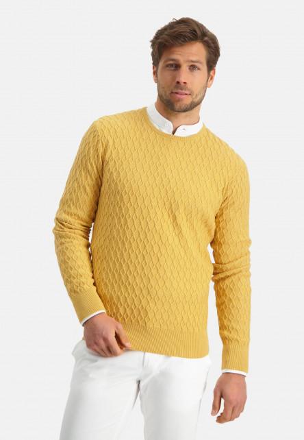 Modern-Classics-jumper-with-crew-neck---light-yellow-plain