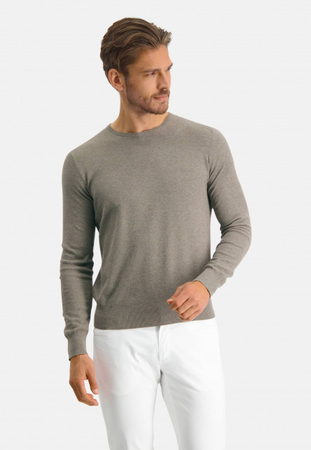 Modern-Classics-jumper-of-a-pima-cotton-blend---buff-plain