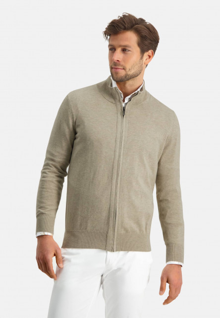 Modern-Classics-cardigan-with-modern-fit---sand-plain