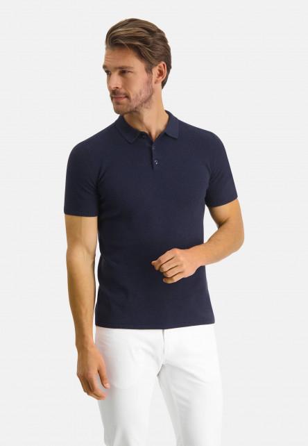 Modern-Classics-polo-of-Pima-cotton---dark-blue-plain