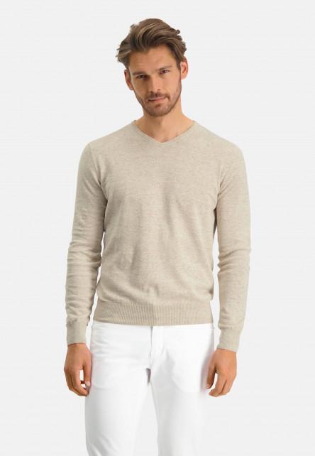 Modern-Classics-jumper-with-V-neck---cream-plain