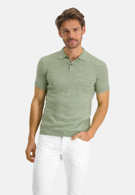 Modern-Classics-polo-with-a-polo-collar---leafgreen-plain