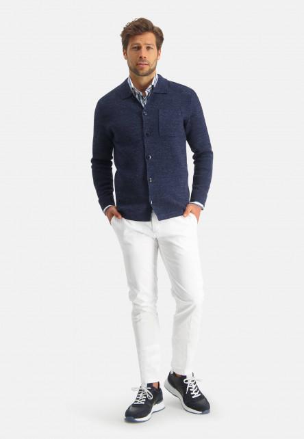 Modern-Classics-cardigan-with-chest-pocket---dark-blue-plain