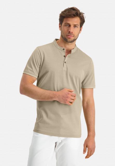 Modern-Classics-polo-of-mercerized-cotton---sand/white