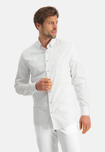 Modern-Classics-shirt-with-a-fine-print---cobalt/white