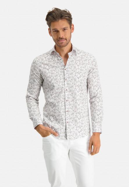 Modern-Classics-shirt-with-a-satin-look---sand/dark-brown