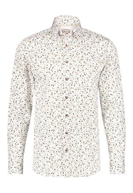 Modern-Classics-shirt-with-an-all-over-print---sand/dark-brown