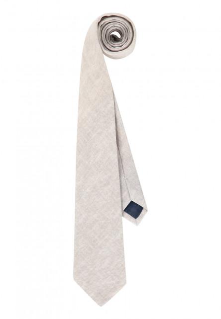 Tie-of-cotton,-Thread-through-loop-and-lining---cream-plain