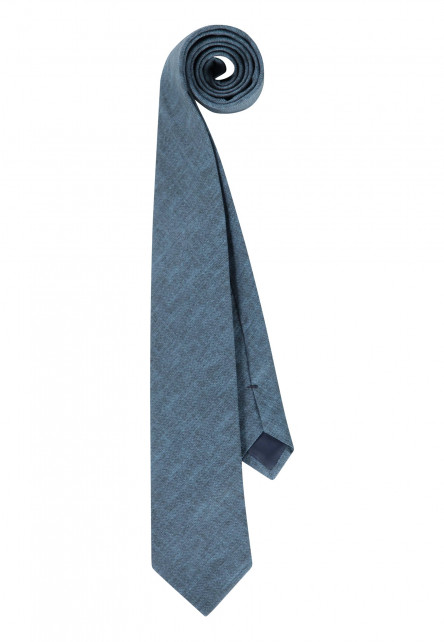Tie-of-cotton,-Thread-through-loop-and-lining---cobalt-plain