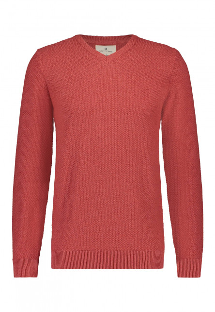 V-neck-jumper-of-blended-recycled-cotton