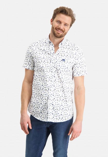 Hemd,-Druck,-kurzarm