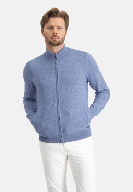 Cardigan-plain-with-a-high-collar