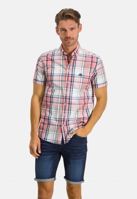 Regular-fit-overhemd-met-korte-mouwen