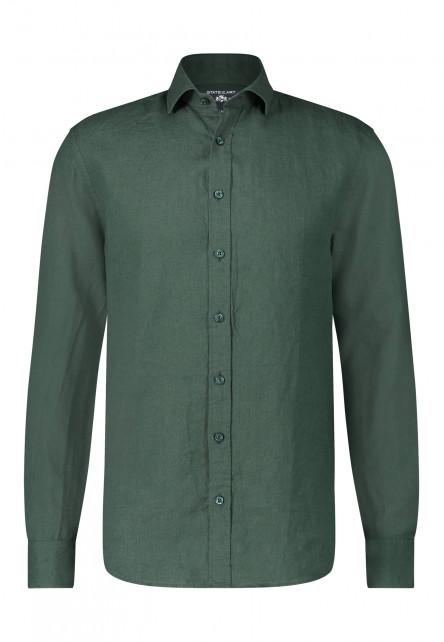 Linen-shirt-with-a-medium-cut-away