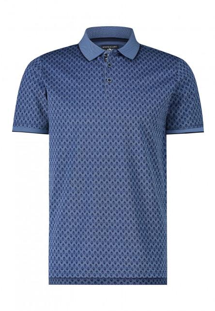 Poloshirt,-Allover-Druck