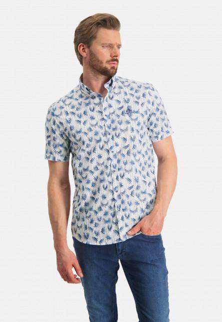Button-down-shirt-with-a-bird-print