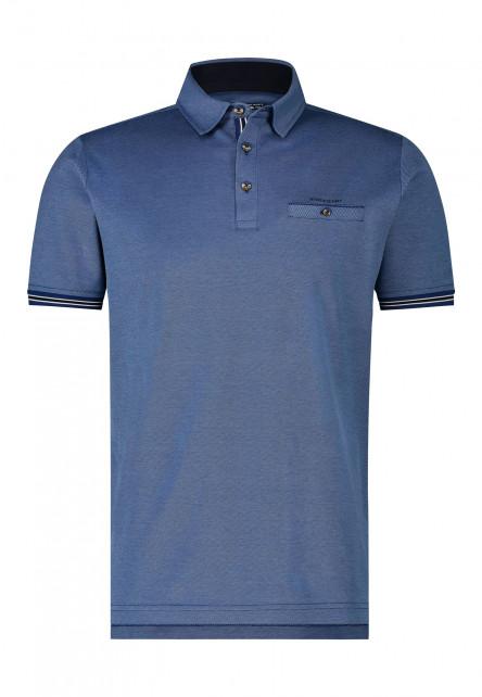 Poloshirt,-Gewebter-Kragen