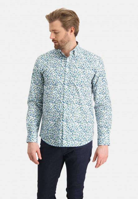 Hemd,-Druck,-Botanic-Print