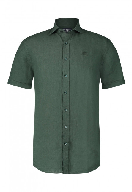 Shirt-with-short-sleeves-and-checked-pattern