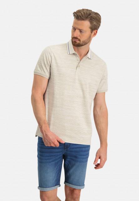 Poloshirt,-Kontrast-Kragen