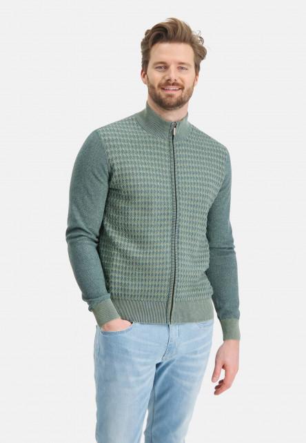 Cardigan-Plain-with-zipper-closure