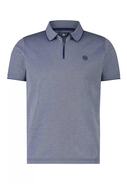 Poloshirt,-Reißverschluss,-kurzarm