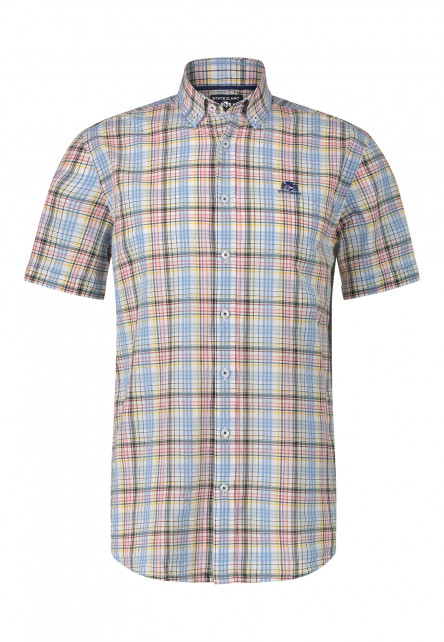 Short-sleeve-shirt-with-checked-pattern