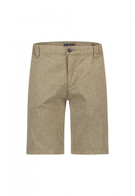 Shorts,-Botanic-Print,-Stretch