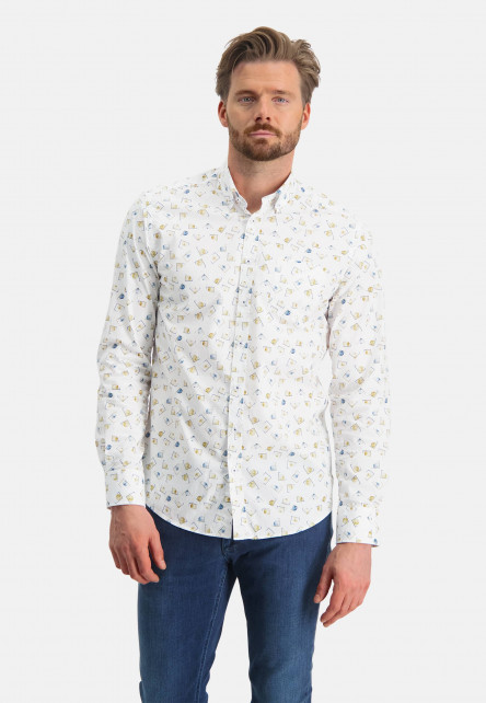 Cotton-shirt-with-an-all-over-print