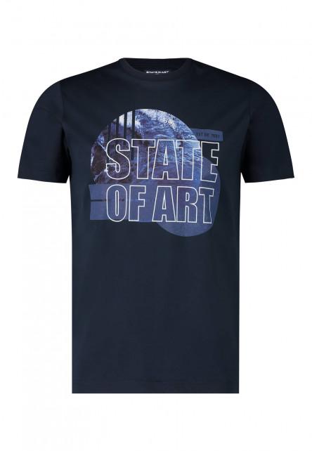 T-Shirt,-Rundhalsausschnitt,-uni
