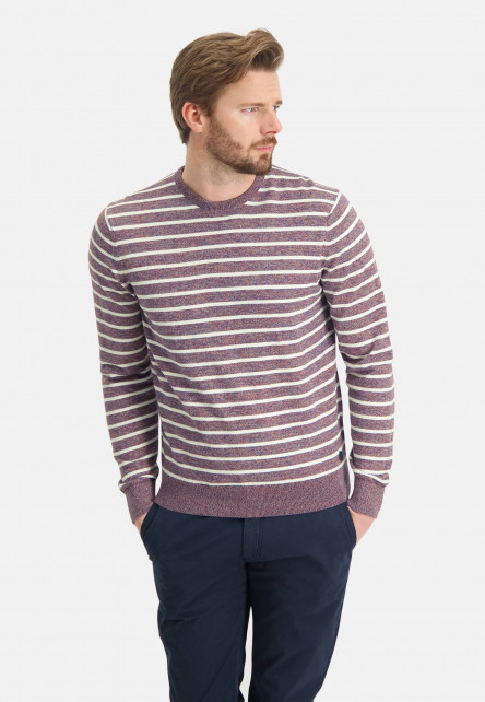 Striped-jumper-with-crew-neck