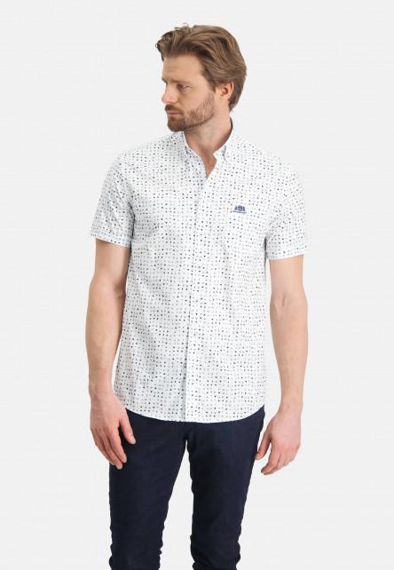 Hemd,-Druck,-Button-Down