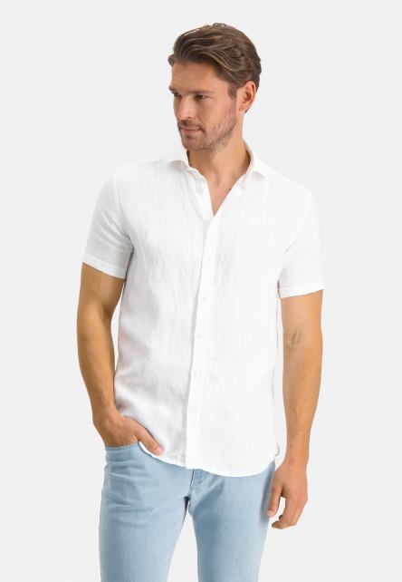 Hemd,-Leinen,-kurzarm