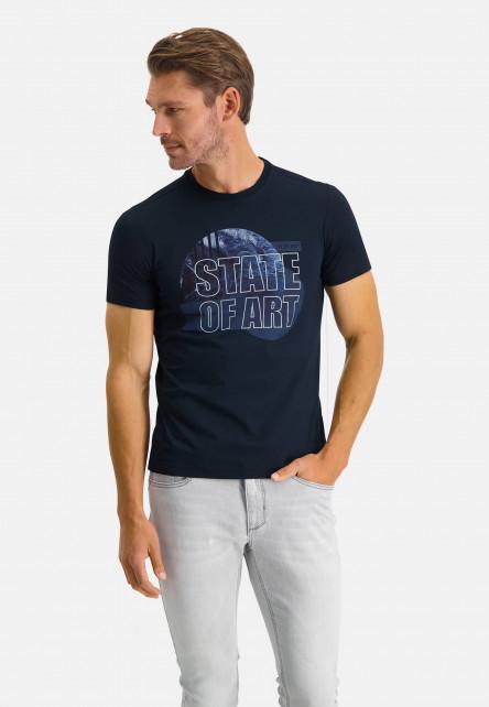 Korte-mouw-T-shirt-gemerceriseerd