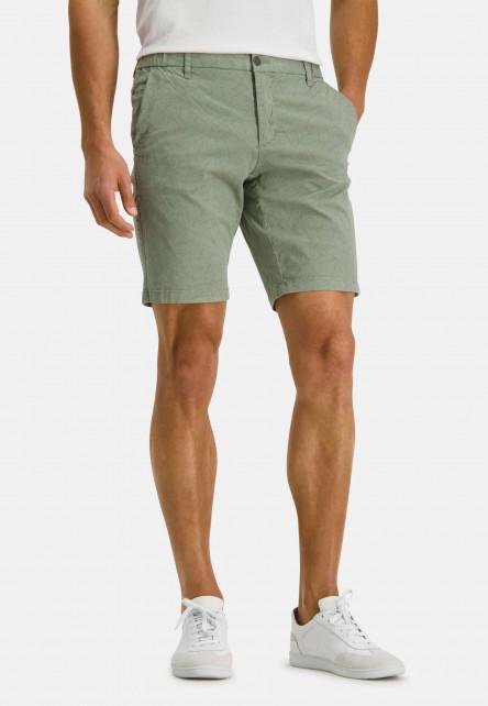 Stretch-shorts-with-a-botanic-print