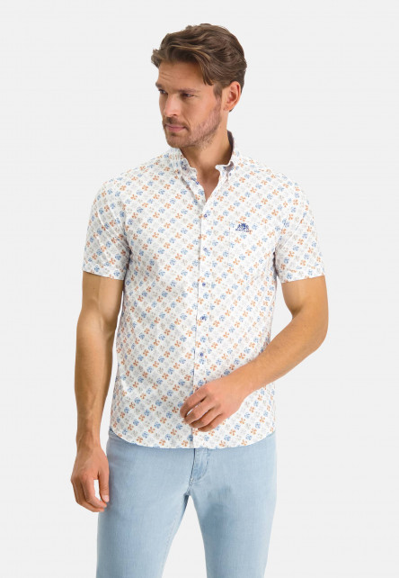 Chemise-en-stretch-cotton-à-imprimé