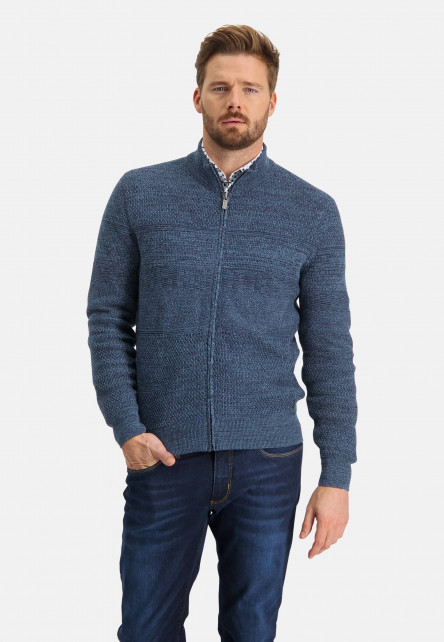 Cardigan-made-of-cotton-mouliné