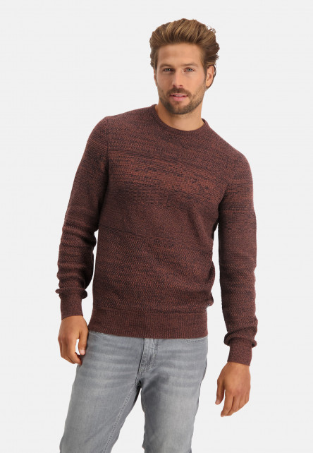 Pullover-made-of-cotton-mouliné