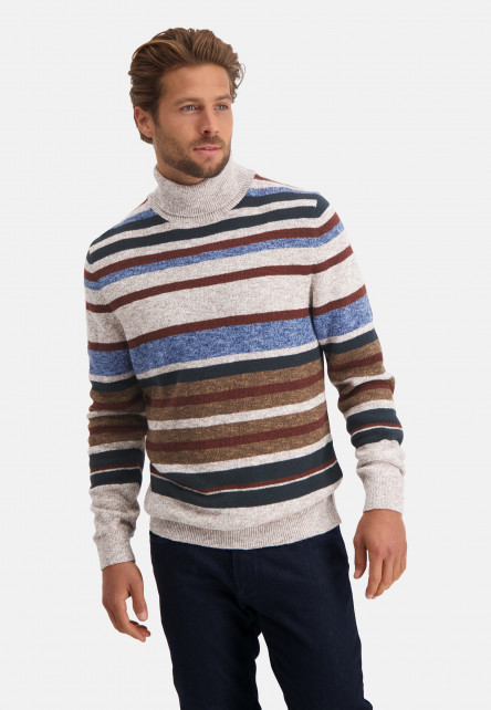 Striped-pullover-with-roll-neck