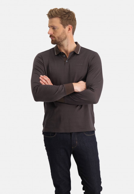 Polo-jersey-with-conrast-collar