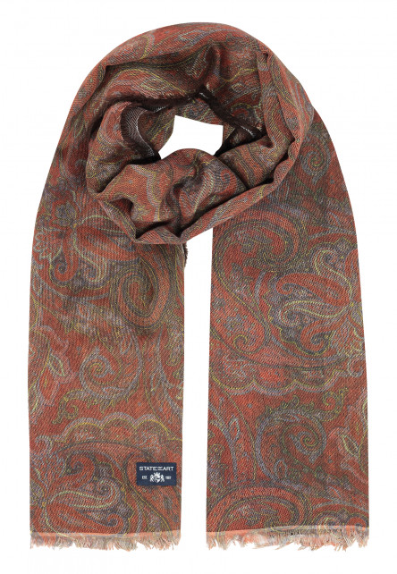 Printed-scarf-with-fringes