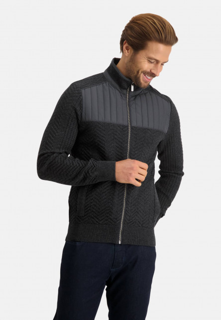 Cardigan-with-turtle-neck