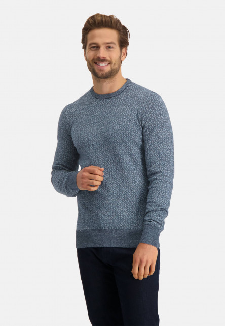 Pullover-jacquard-with-crew-neck