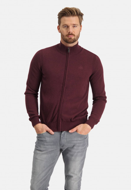 Cardigan-with-logo-on-chest