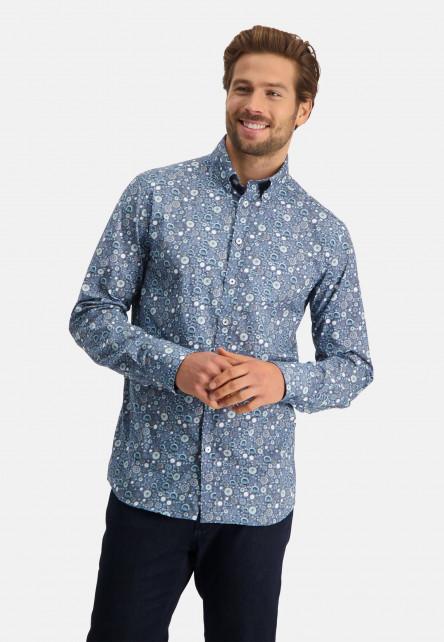 Shirt-with-poplin-print