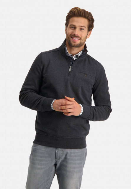 Sweatshirt-Half-Zip-Plain