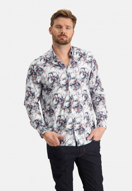 Shirt-with-botanic-print
