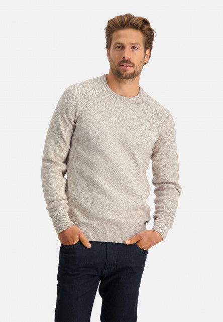 Mouline-pullover-with-crew-neck