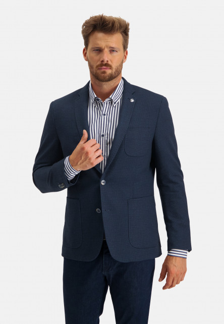 Modern-fit-blazer-with-a-revers-pin