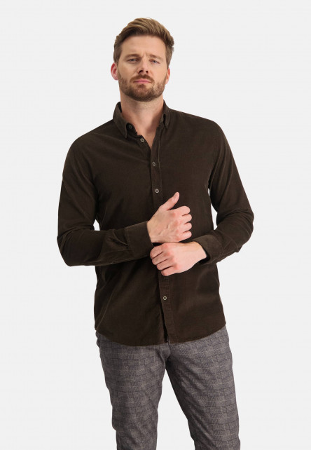 Fine-ribbed-shirt-with-regular-fit